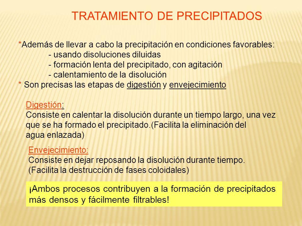 TRATAMIENTO DE PRECIPITADOS