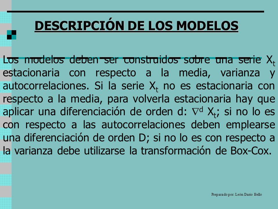 DESCRIPCIÓN DE LOS MODELOS