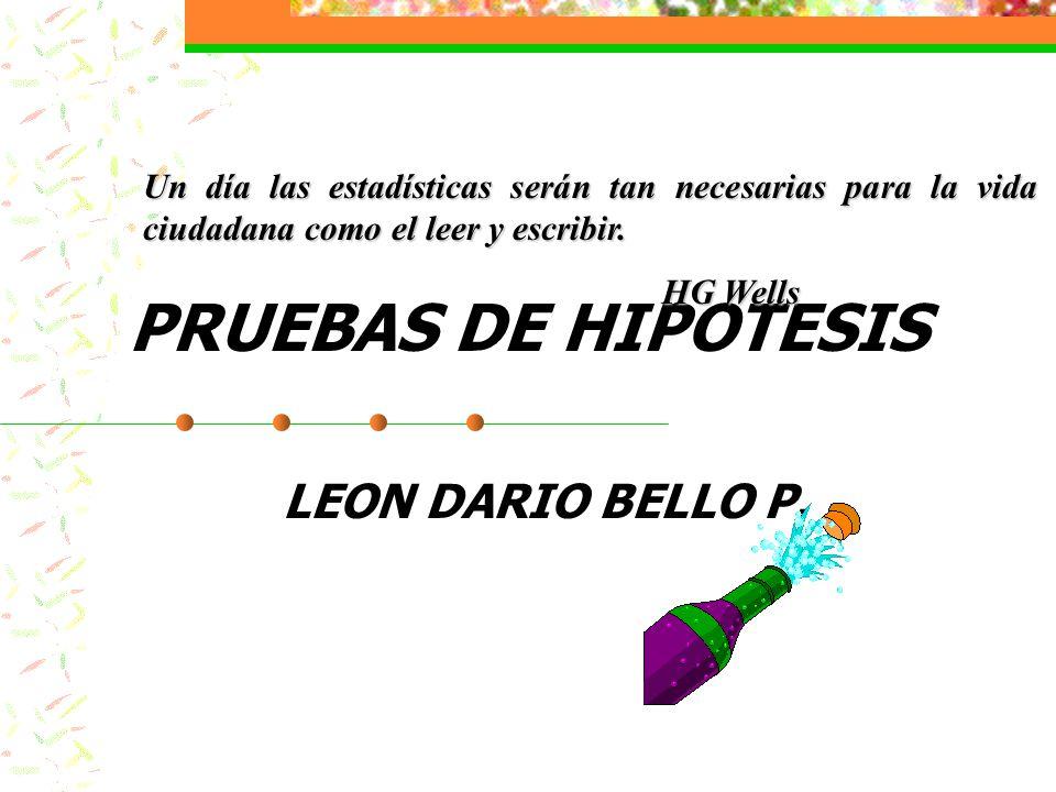 PRUEBAS DE HIPOTESIS LEON DARIO BELLO P.