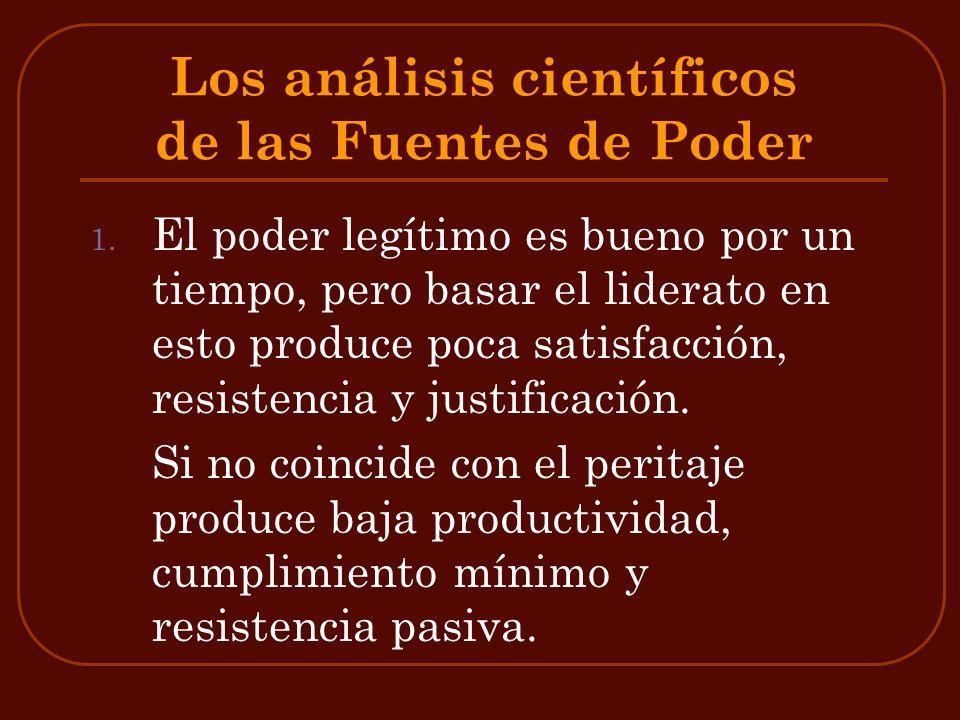 Los análisis científicos de las Fuentes de Poder