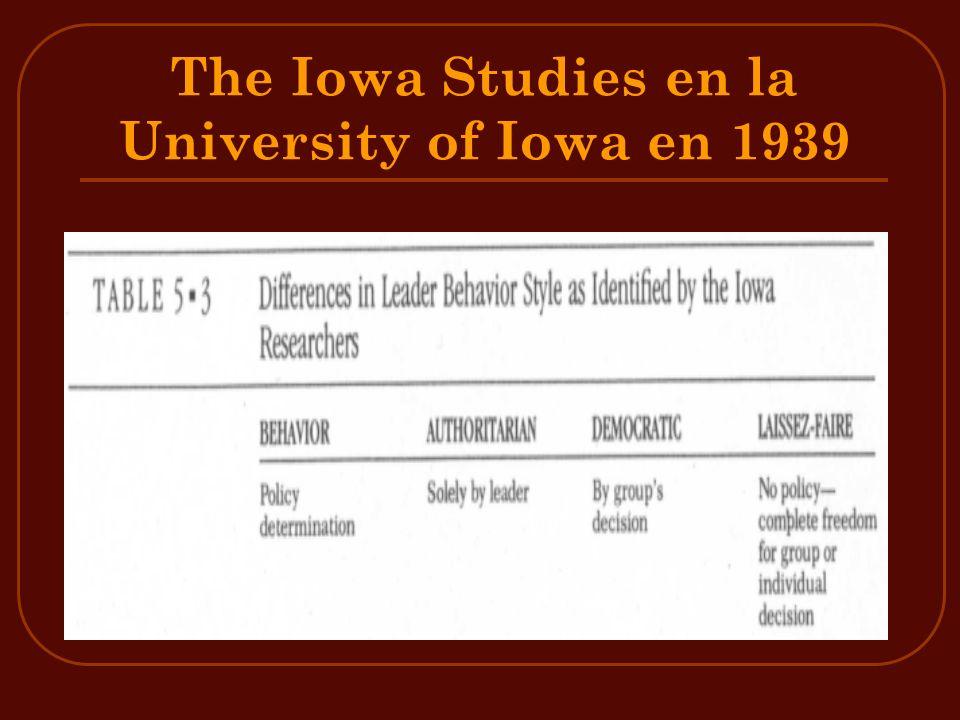 The Iowa Studies en la University of Iowa en 1939