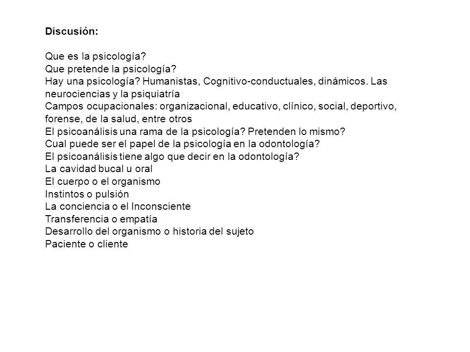 Discusión: Que es la psicología Que pretende la psicología