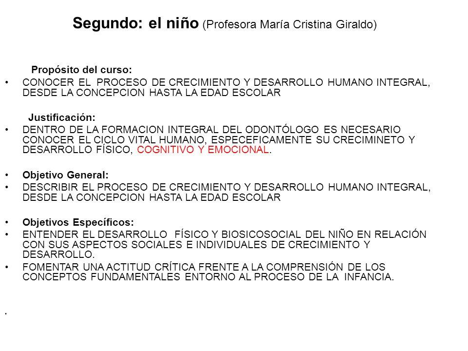 Segundo: el niño (Profesora María Cristina Giraldo)