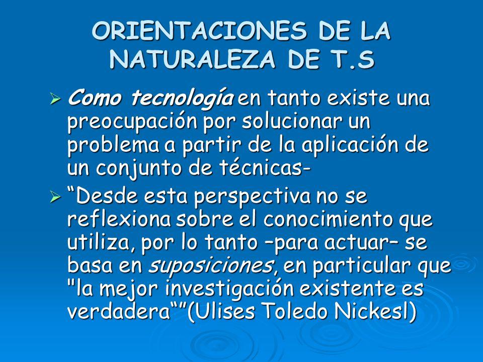 ORIENTACIONES DE LA NATURALEZA DE T.S