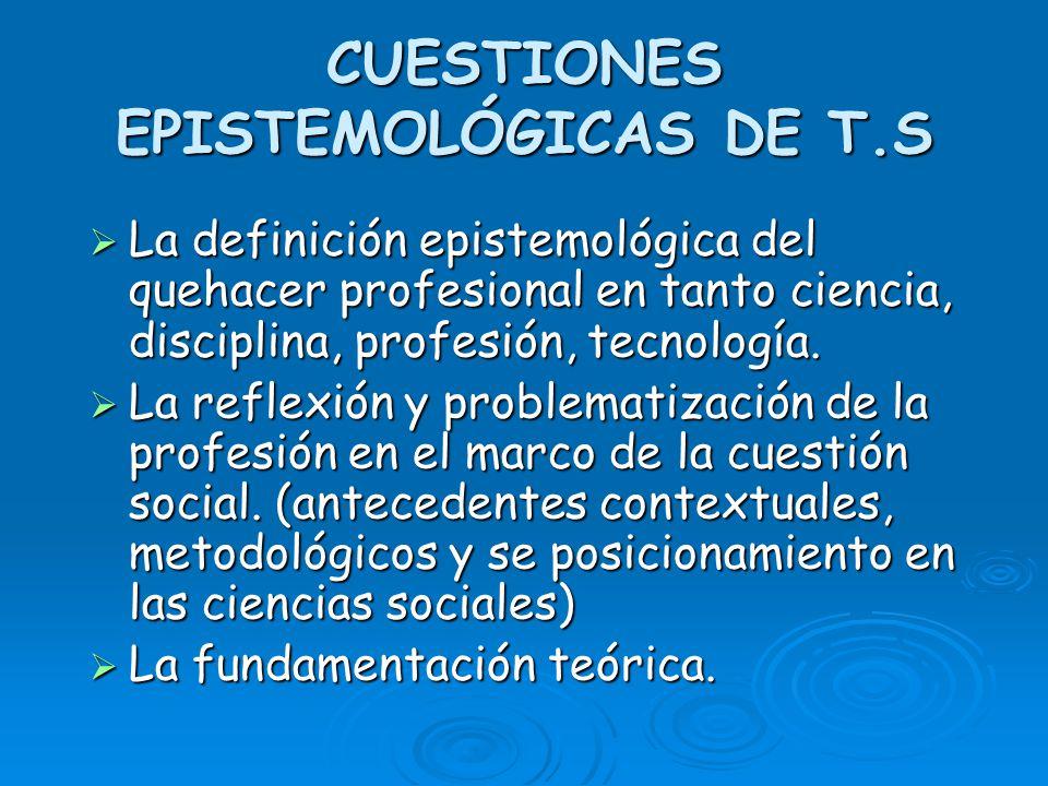 CUESTIONES EPISTEMOLÓGICAS DE T.S