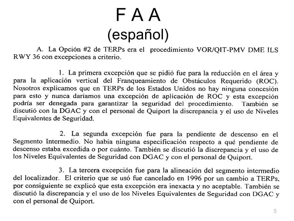 F A A (español) 5