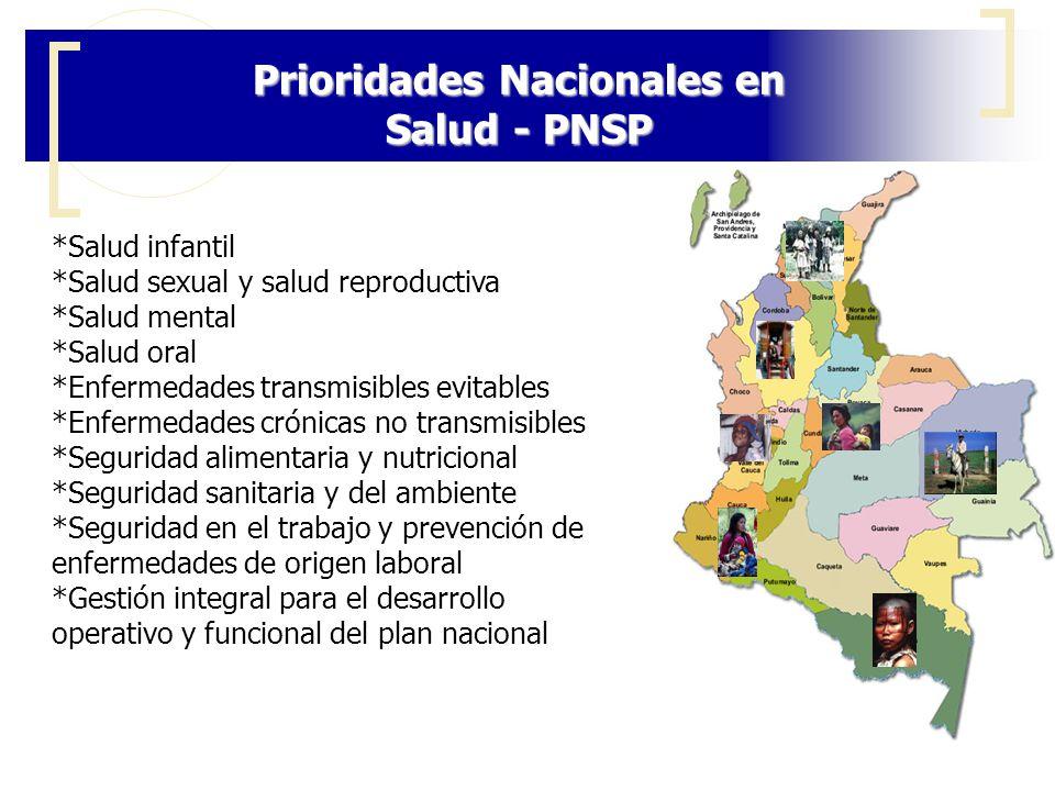 Prioridades Nacionales en Salud - PNSP