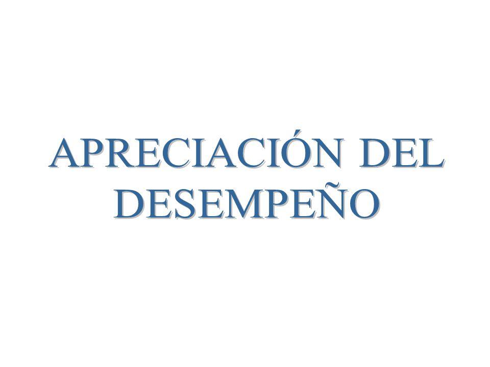 APRECIACIÓN DEL DESEMPEÑO