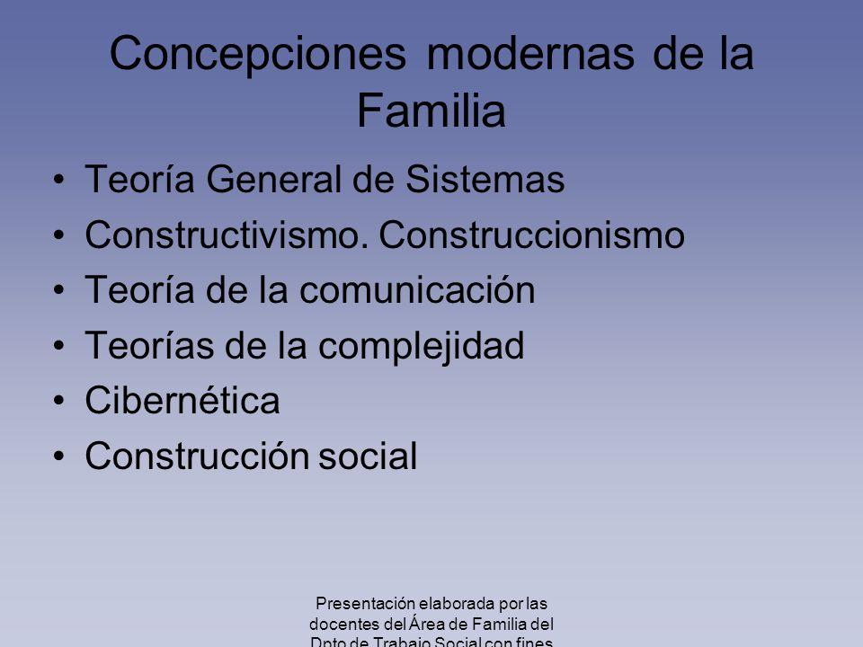 Concepciones modernas de la Familia