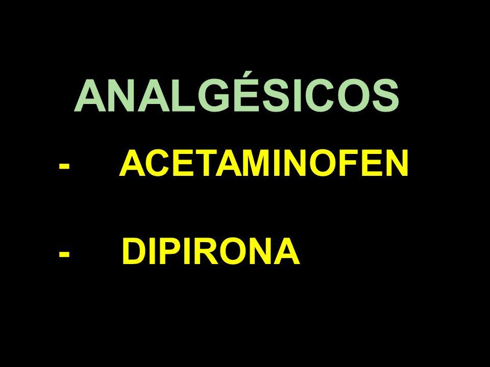 ANALGÉSICOS - ACETAMINOFEN - DIPIRONA