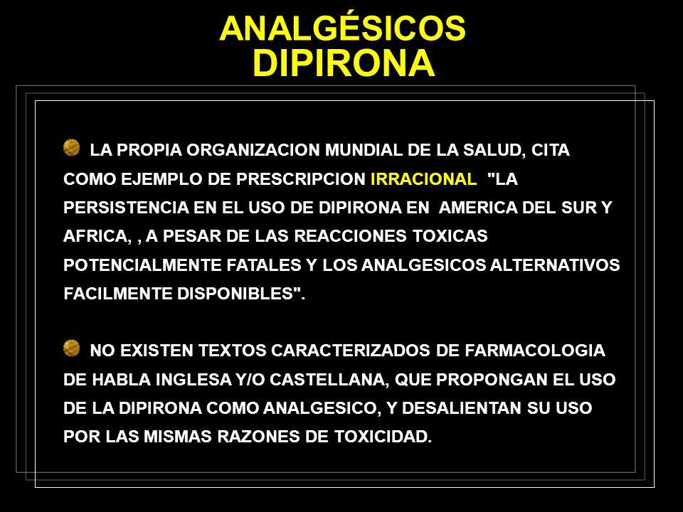 ANALGÉSICOS DIPIRONA.