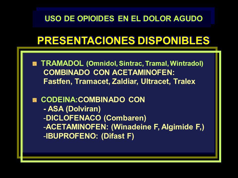 USO DE OPIOIDES EN EL DOLOR AGUDO