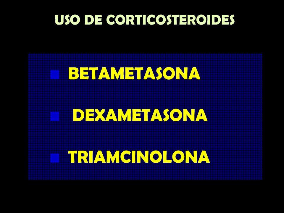 USO DE CORTICOSTEROIDES