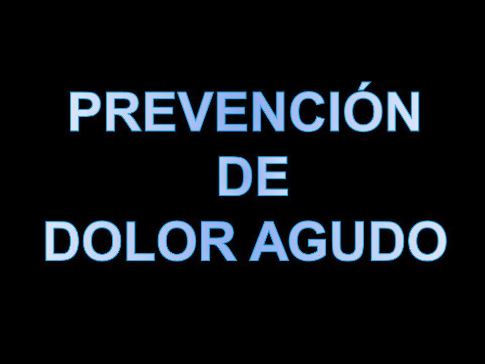 PREVENCIÓN DE DOLOR AGUDO