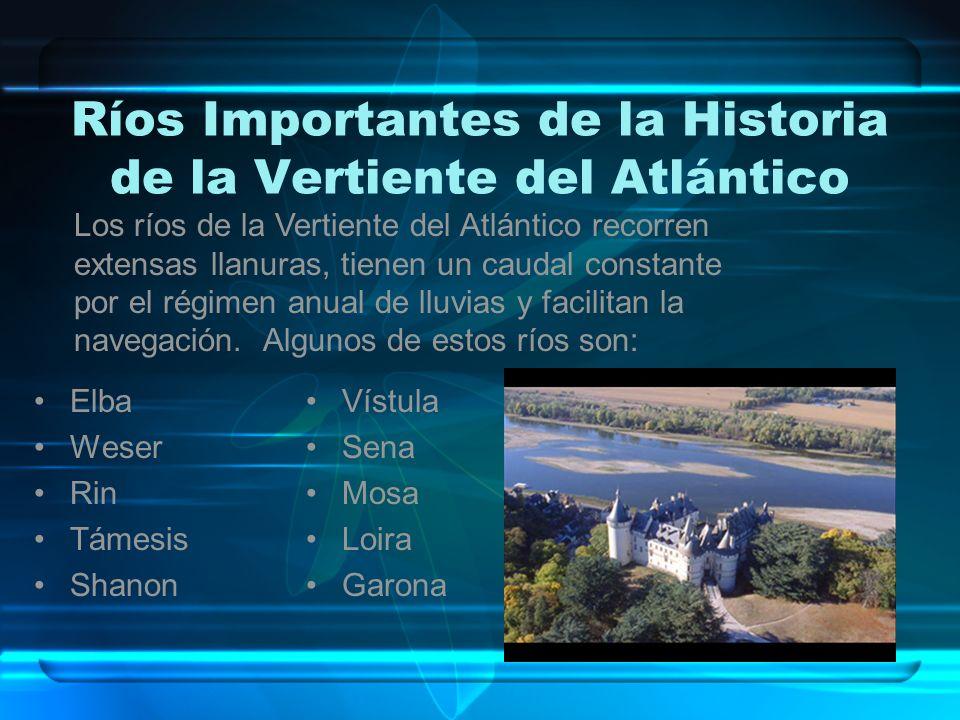 Ríos Importantes de la Historia de la Vertiente del Atlántico