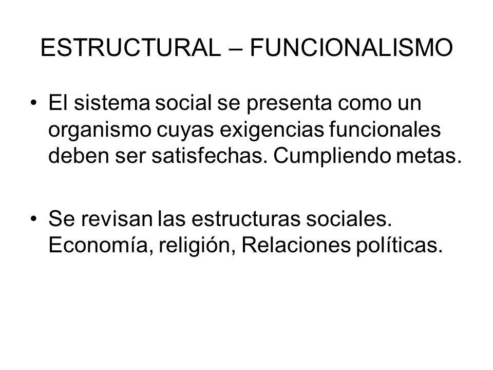 ESTRUCTURAL – FUNCIONALISMO
