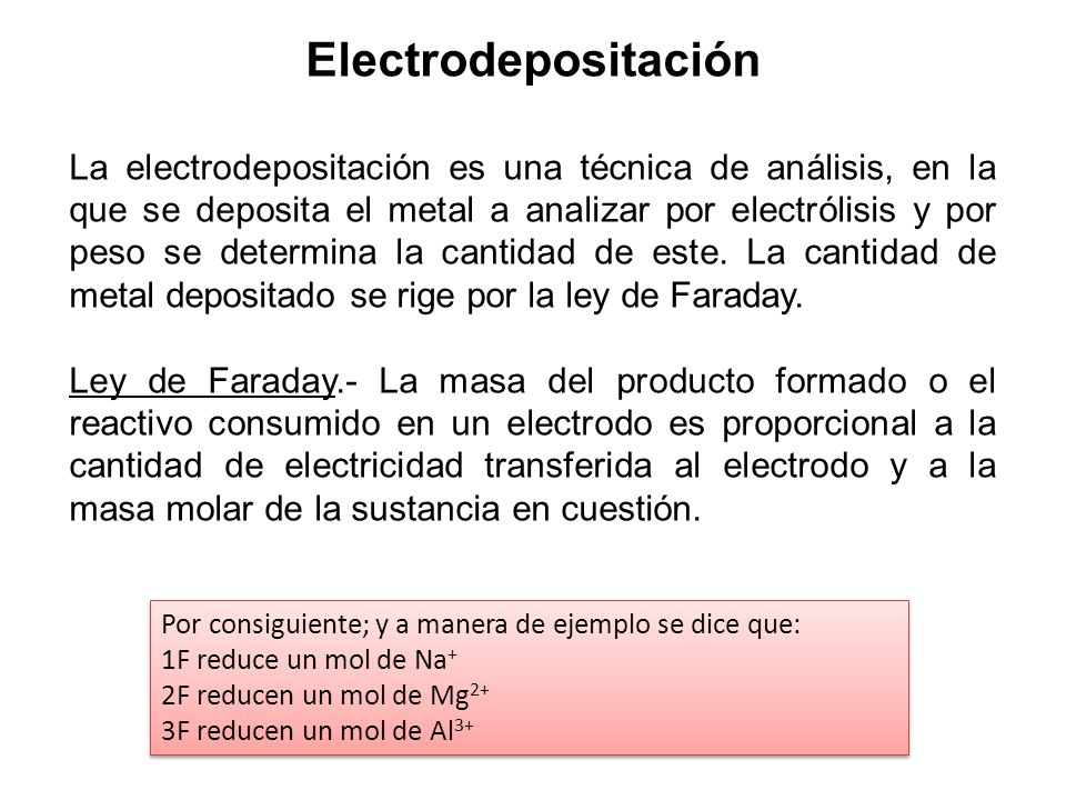 Electrodepositación