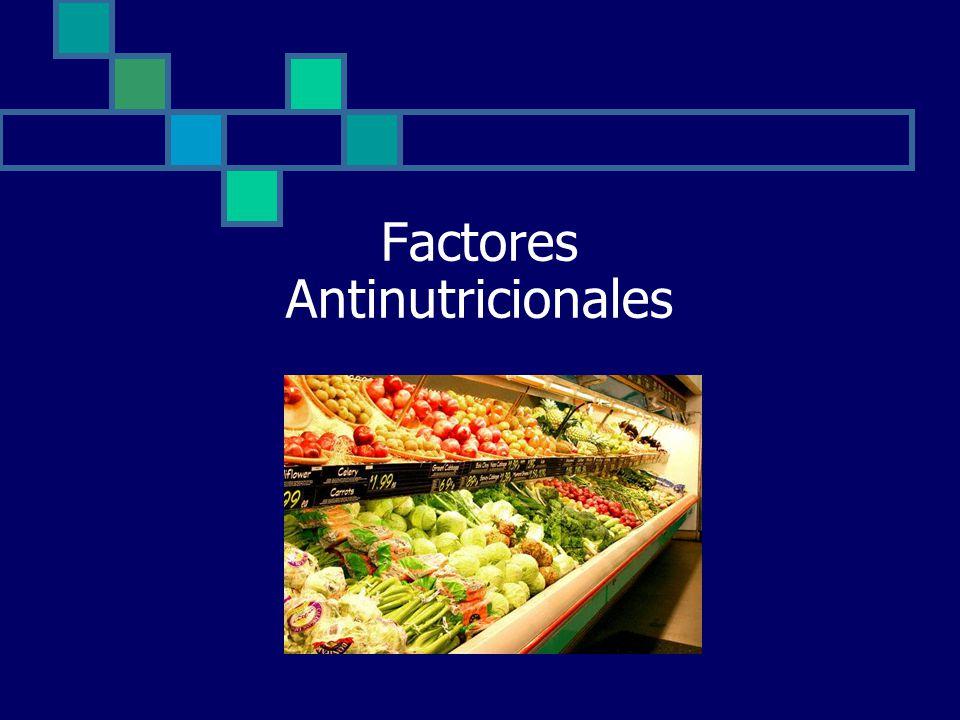 Factores Antinutricionales
