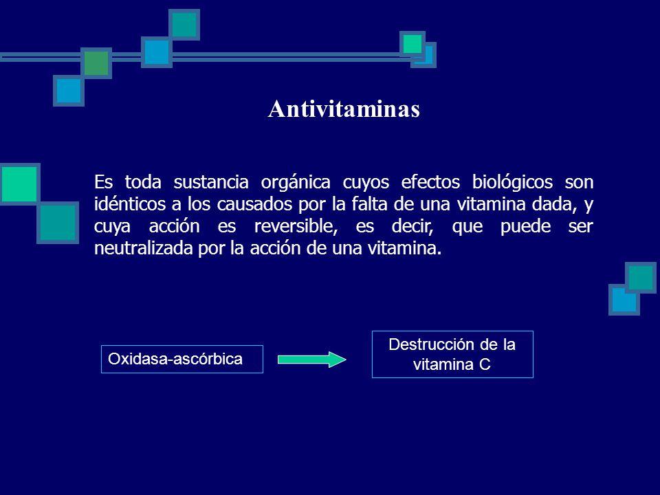 Destrucción de la vitamina C