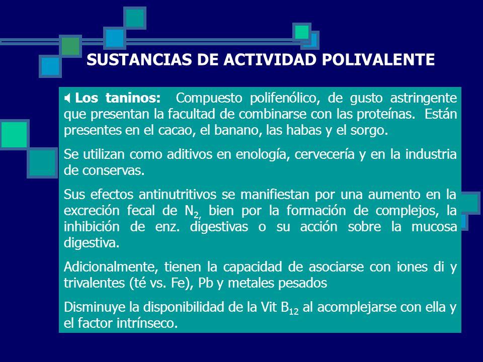 SUSTANCIAS DE ACTIVIDAD POLIVALENTE