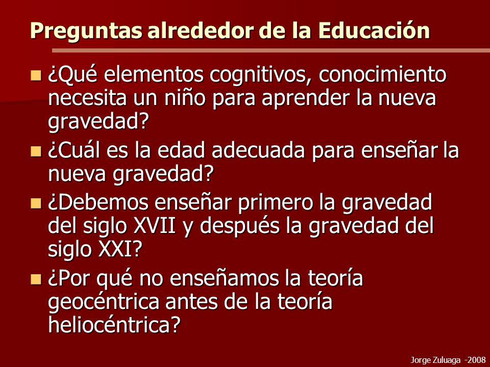 Preguntas alrededor de la Educación