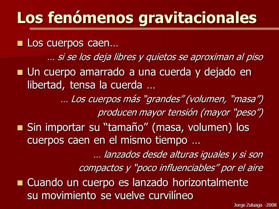 Los fenómenos gravitacionales