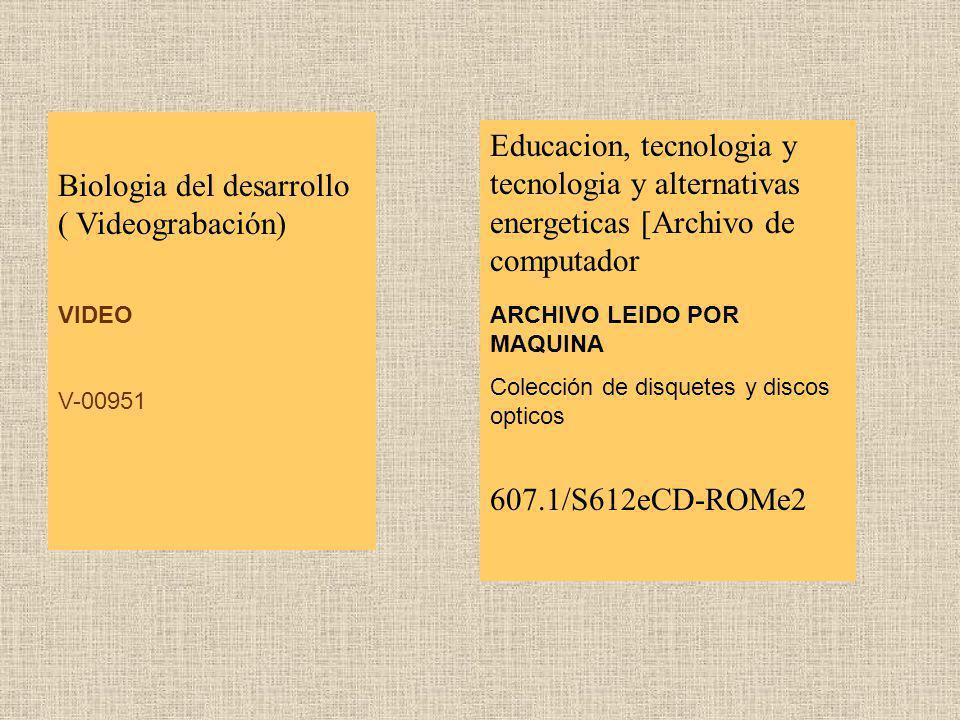 Biologia del desarrollo ( Videograbación)