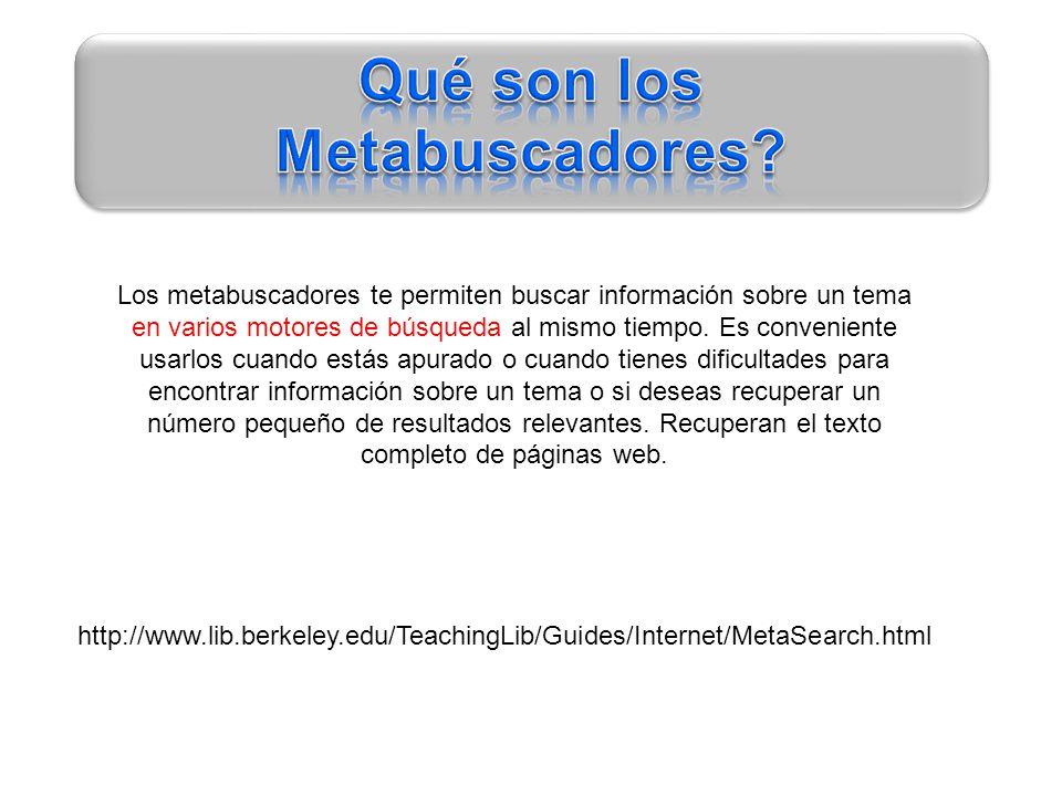 Qué son los Metabuscadores