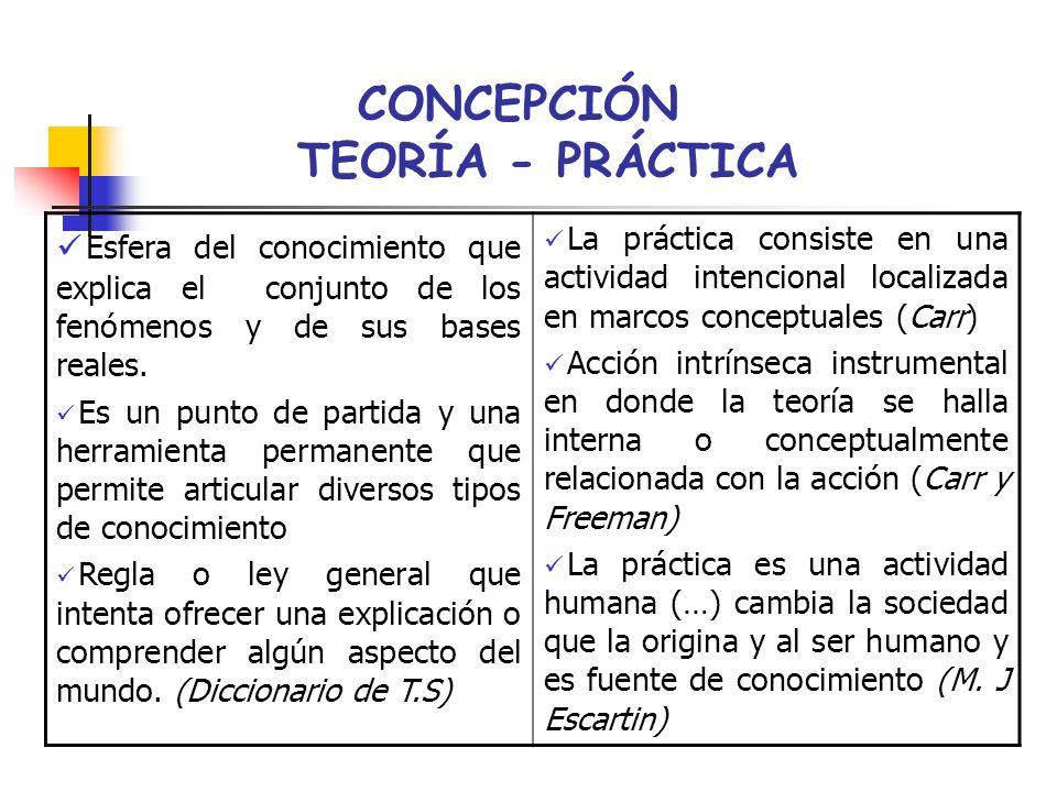CONCEPCIÓN TEORÍA - PRÁCTICA