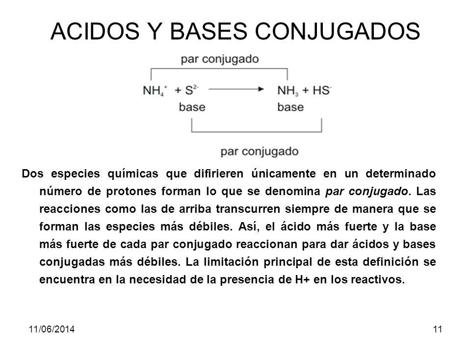 ACIDOS Y BASES CONJUGADOS