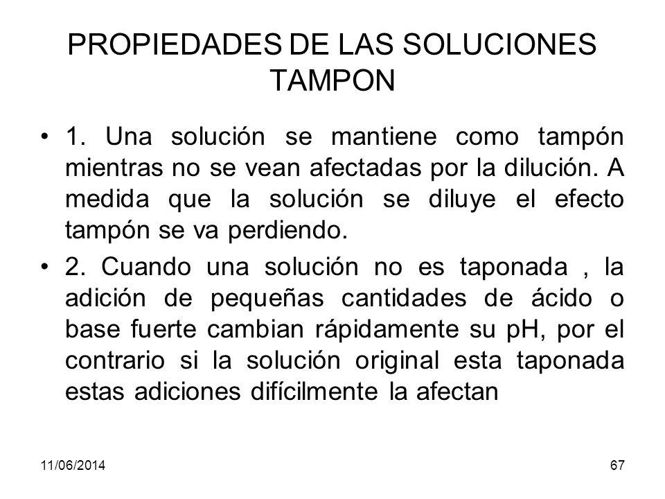 PROPIEDADES DE LAS SOLUCIONES TAMPON