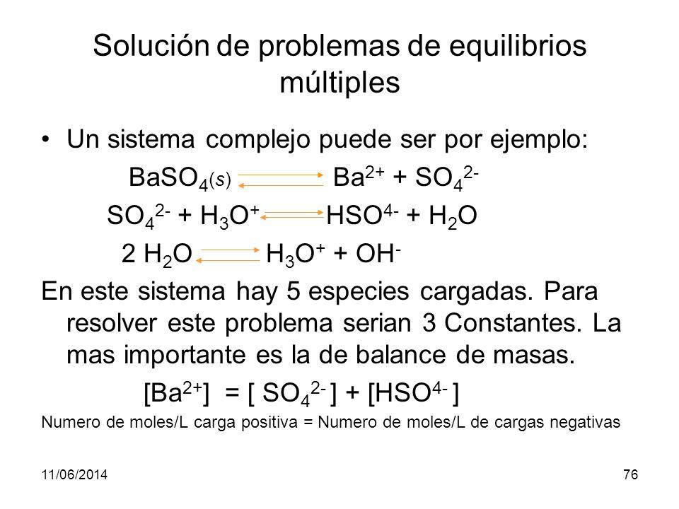 Solución de problemas de equilibrios múltiples
