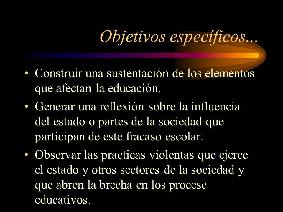 Objetivos específicos...