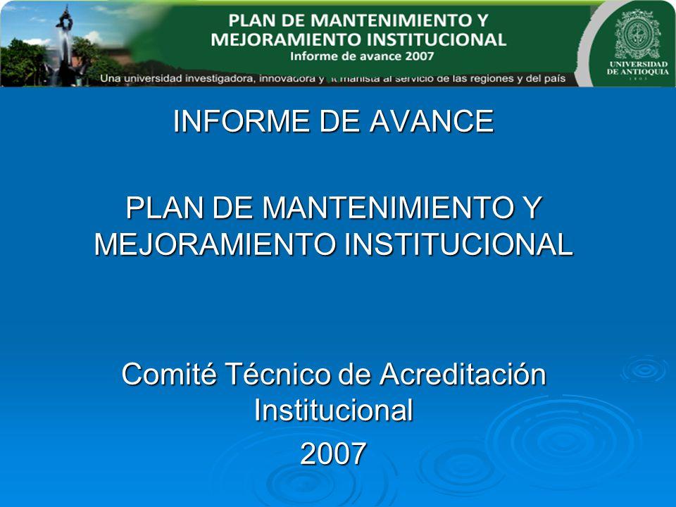 PLAN DE MANTENIMIENTO Y MEJORAMIENTO INSTITUCIONAL