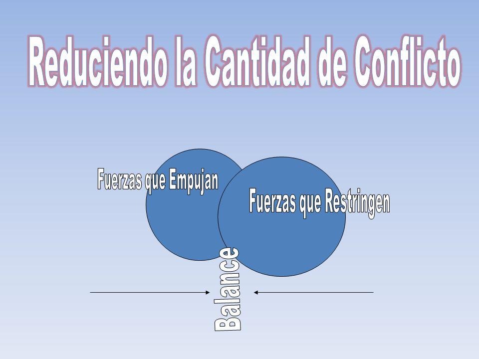 Reduciendo la Cantidad de Conflicto