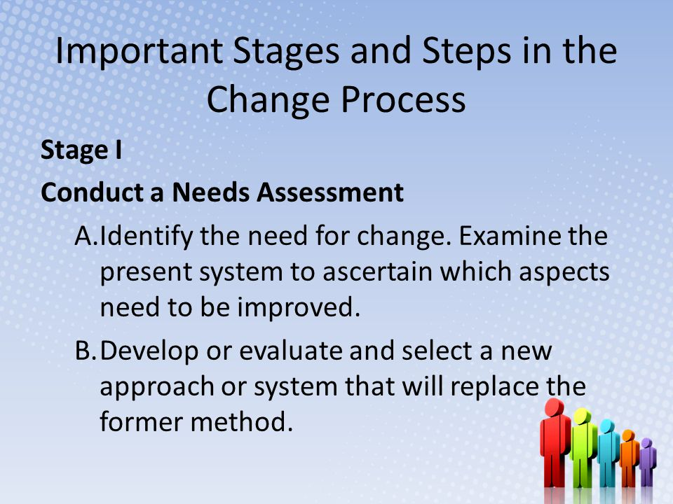 Important Stages and Steps in the Change Process