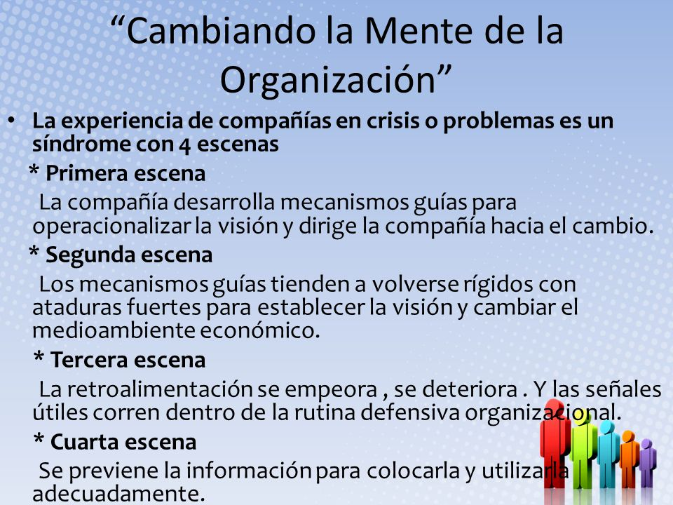 Cambiando la Mente de la Organización