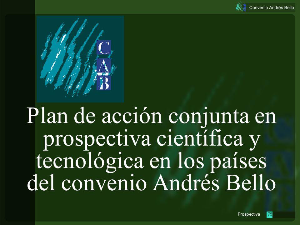 Plan de acción conjunta en prospectiva científica y tecnológica en los países del convenio Andrés Bello