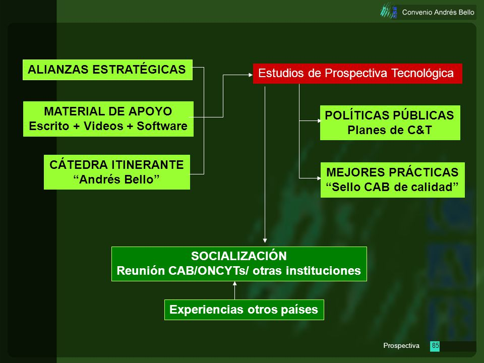 ALIANZAS ESTRATÉGICAS Estudios de Prospectiva Tecnológica