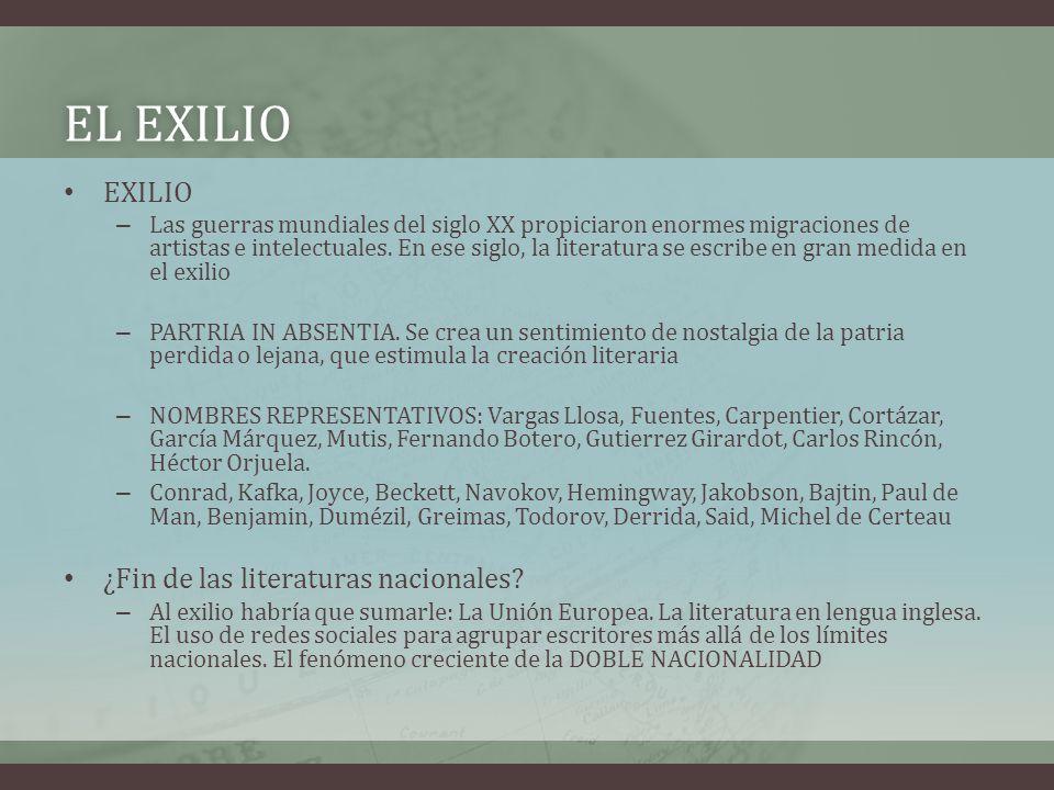 El exilio EXILIO ¿Fin de las literaturas nacionales