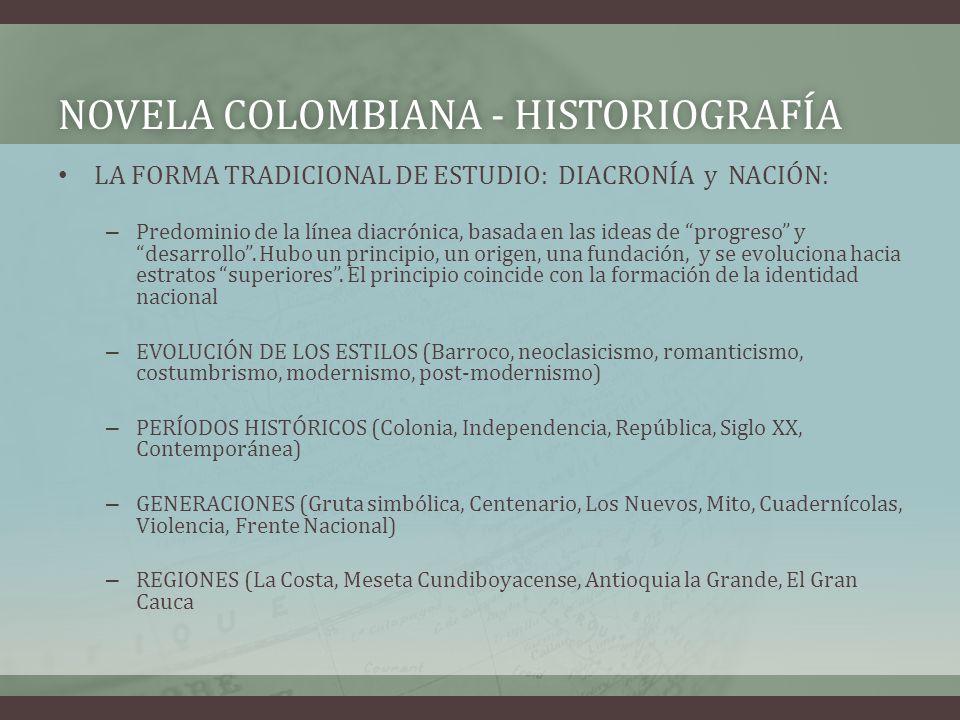 NOVELA COLOMBIANA - HISTORIOGRAFÍA