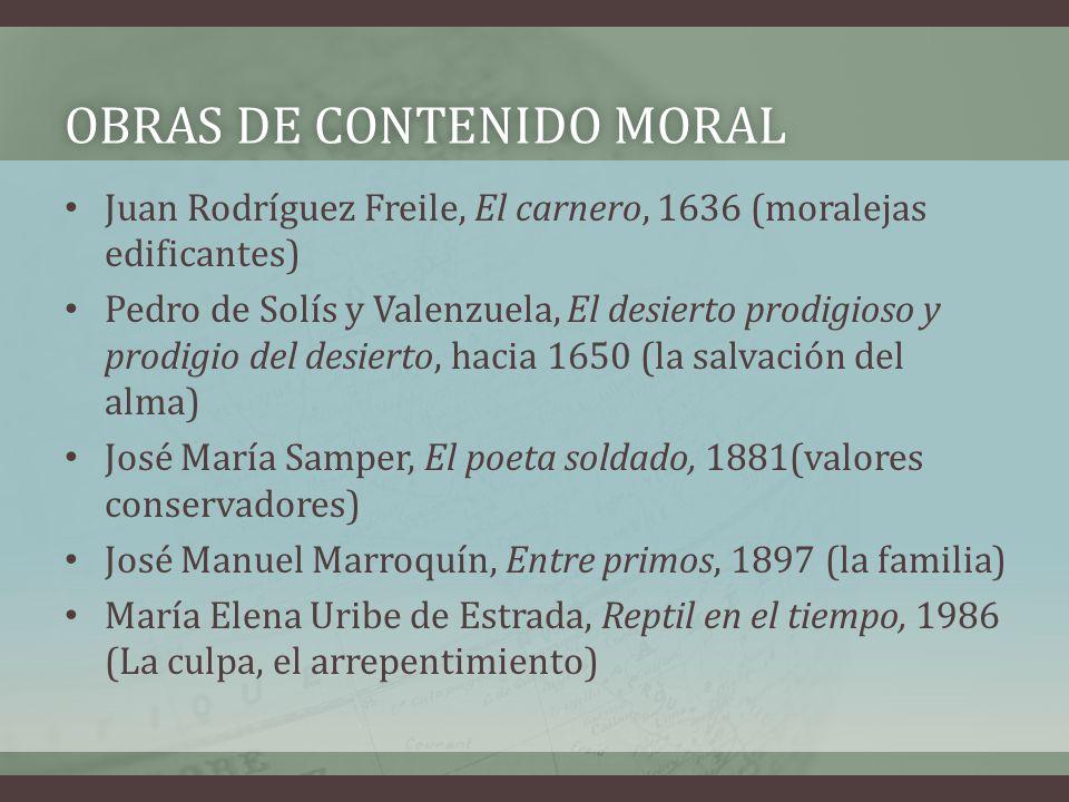 Obras de contenido moral