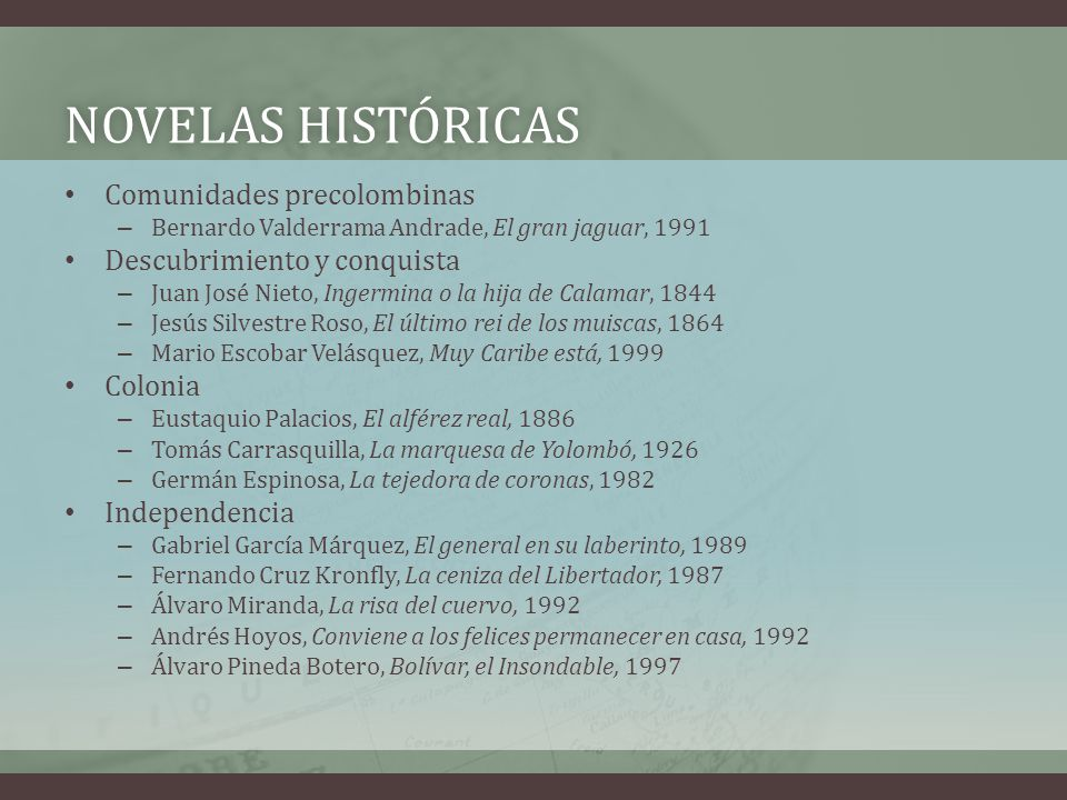 Novelas históricas Comunidades precolombinas