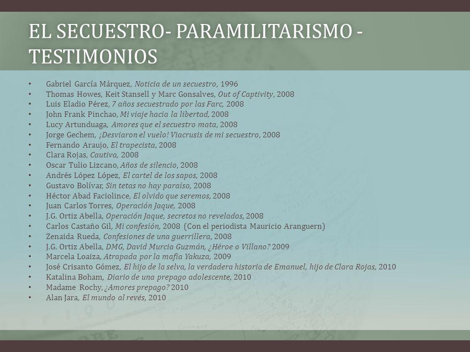 EL SECUESTRO- Paramilitarismo - Testimonios