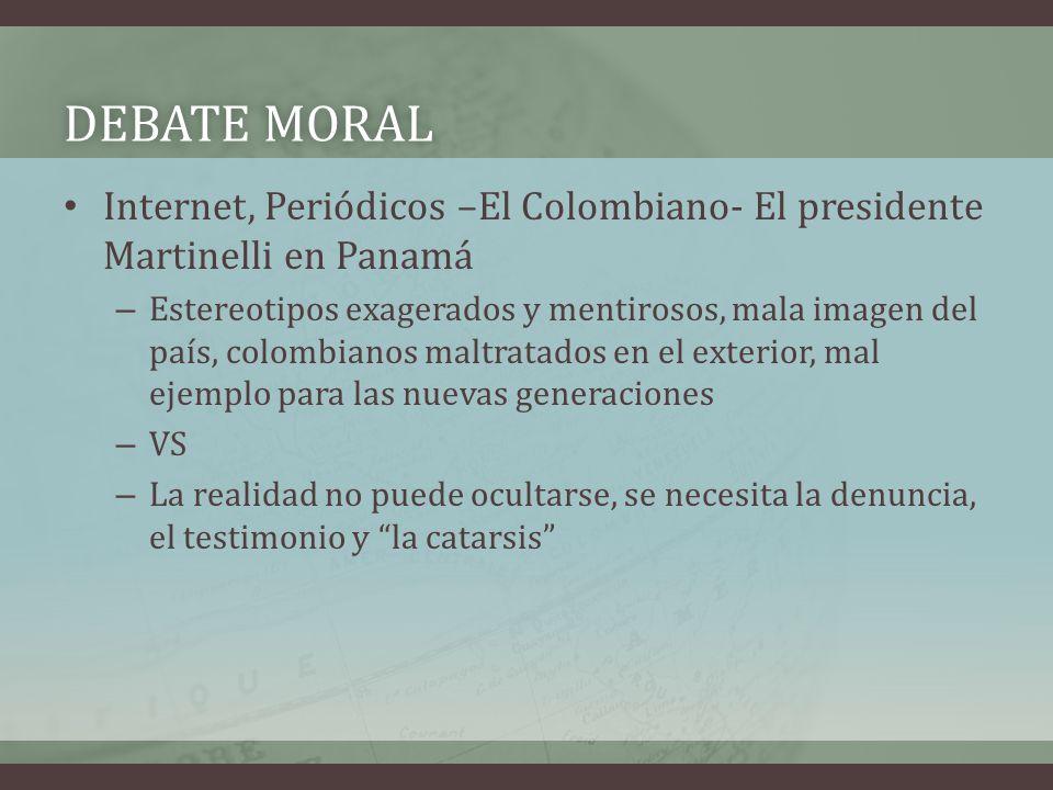 Debate moral Internet, Periódicos –El Colombiano- El presidente Martinelli en Panamá.