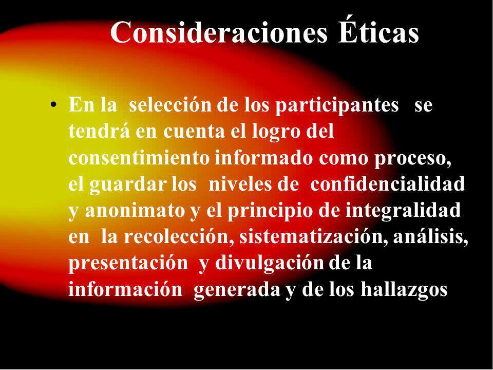 Consideraciones Éticas