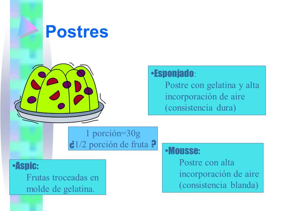 Postres Esponjado: Postre con gelatina y alta incorporación de aire