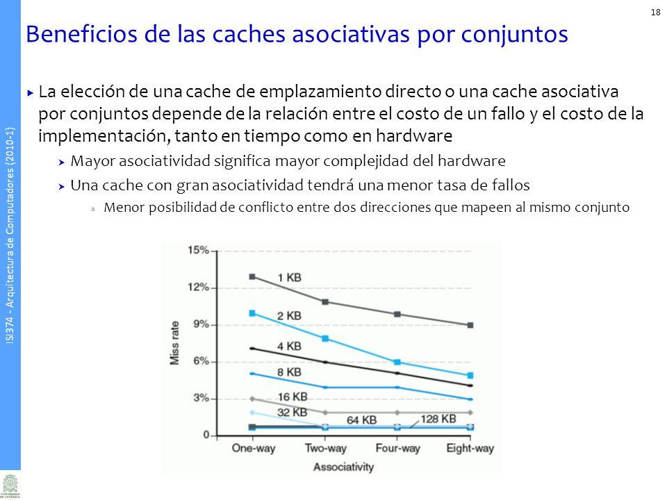 Beneficios de las caches asociativas por conjuntos