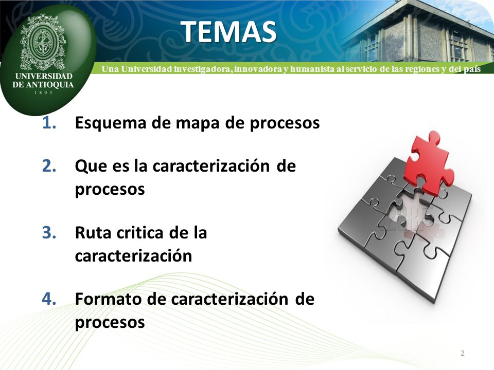 TEMAS Esquema de mapa de procesos