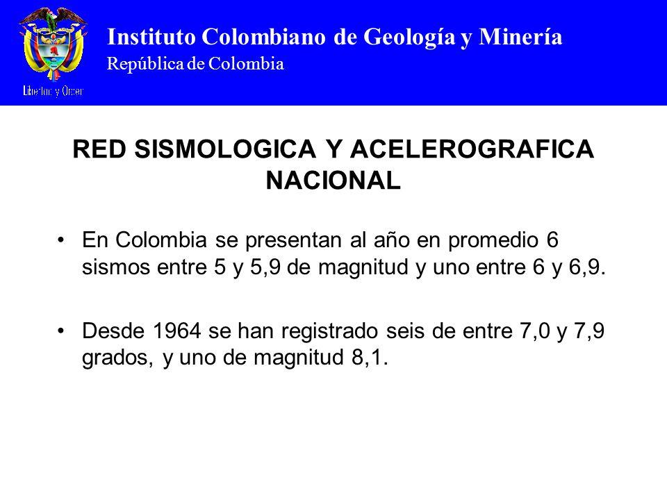 RED SISMOLOGICA Y ACELEROGRAFICA NACIONAL